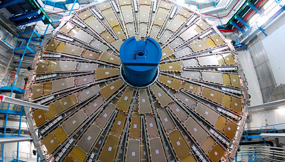 One of the giant muon-trigger wheels of the ATLAS detector