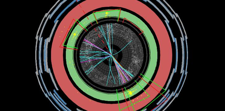 A proton-proton collision at ATLAS studied for the possible decay of a new heavy particle into two top quarks