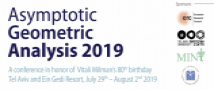 Asymptotic Geometric Analysis 2019-  29th July- 2nd August 2019