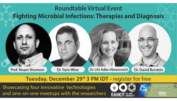 December 2020: Ramot at Tel Aviv University Fighting Microbial Infections: Therapies and Diagnosis Roundtable virtual event