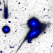 """Astronomers Discover Giant Relic of Disrupted """"Tadpole"""" Galaxy"""